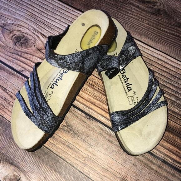 f9e13db07720 Birkenstock Shoes - Birkenstock Betula purple snake print nwot